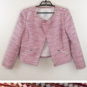 A8 Halogen Pink Tweed Jacket M